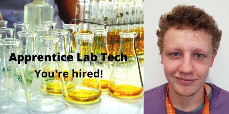 Image of BioEscalator's apprentice lab tech Owen Baker