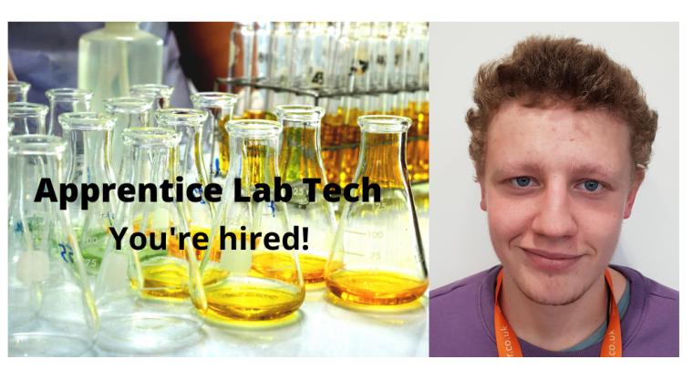 image of the Bioescalator's Apprentice lab tech Owen Baker