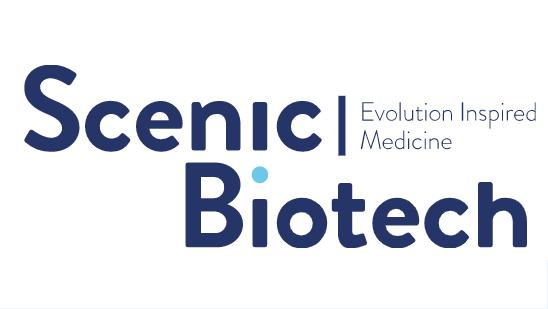 Scenic Biotech logo with the strapline 'Evolution Inspired Medicine'