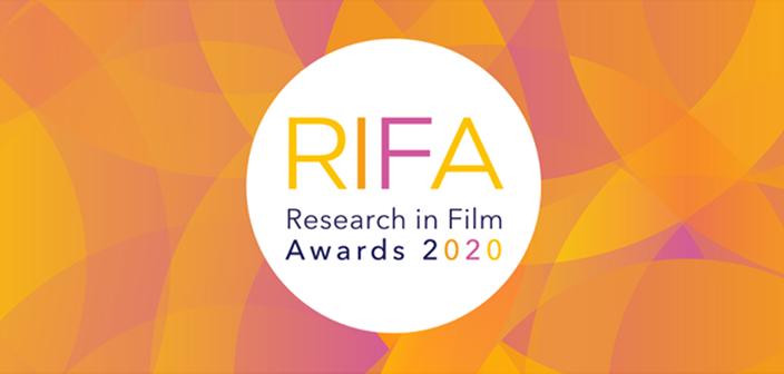 Logo for the AHRC Research in Film Awards