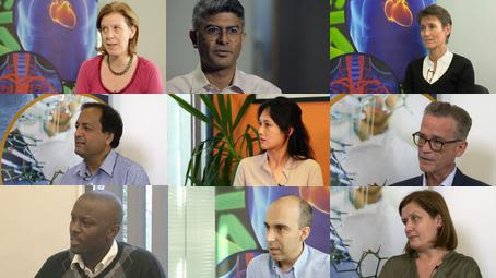 collage of researchers