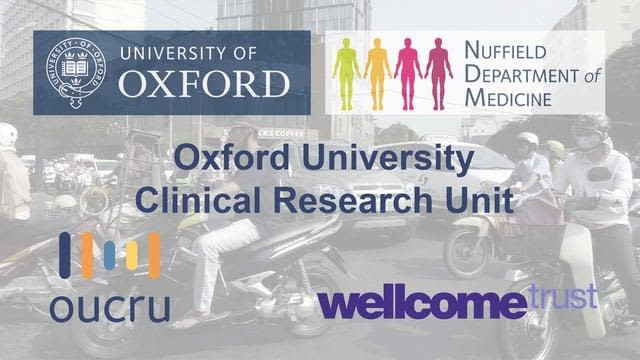 collection of logos (University of Oxford, Nuffield Department of Medicine, Oxford University Clinical Research Unit, OUCRU, Wellcome Trust)