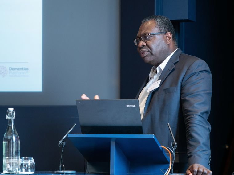 Professor Franklin Aigbirhio, who is developing new fluorescent molecules for use in PET-MR scanners.
