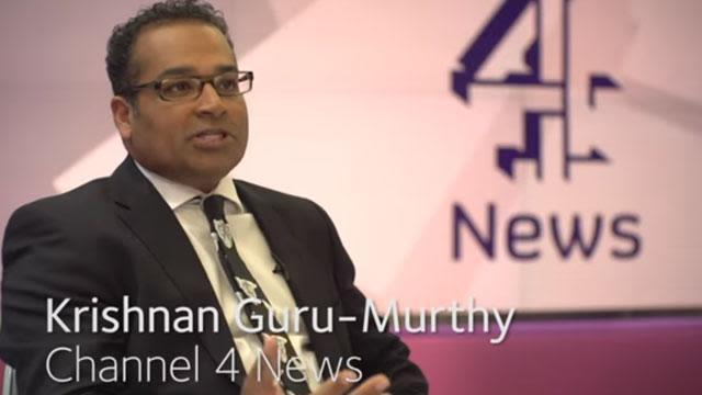Snapshot from Krisgnan Guru-Murthy's video