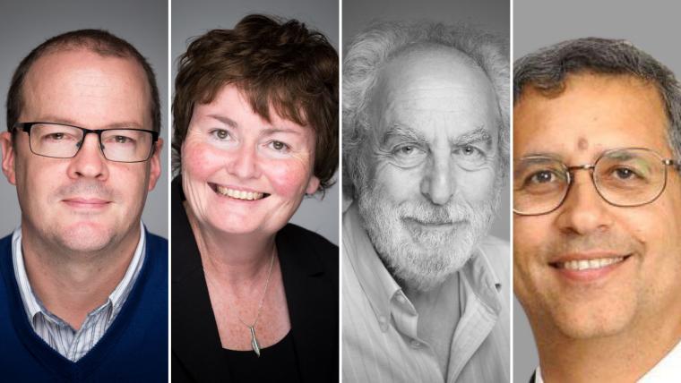 Profile pictures of Professor Gary Collins, Professor Cyrus Cooper, Professor Fiona Powrie and Professor Doug Altman