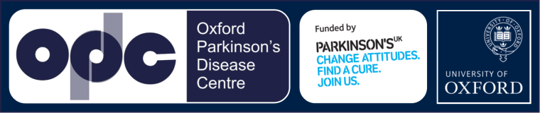 Oxford Parkinson's Disease Centre Logo: the OPDC is funded by Parkinson's UK. Change attitudes. Find a cure. Join us.