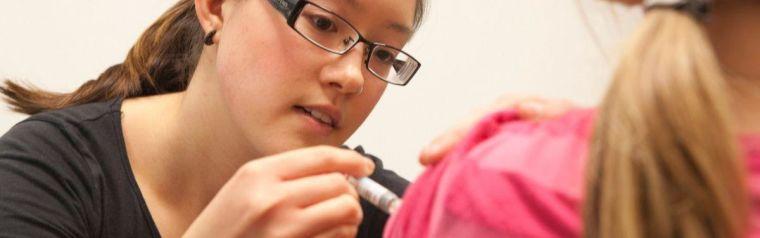person getting a flu jab