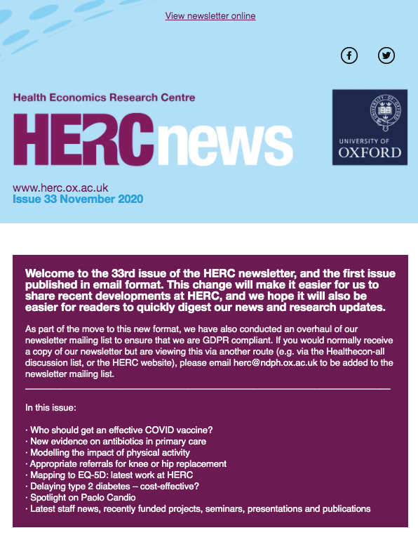 New Look HERC Newsletter - Issue 33 - November 2020 AVAILABLE NOW!!!