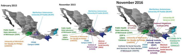 NDM Mexico evolution map
