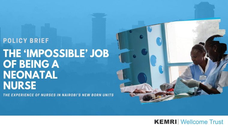 KEMRI poster: The 'impossible' job of being a neonatal nurse