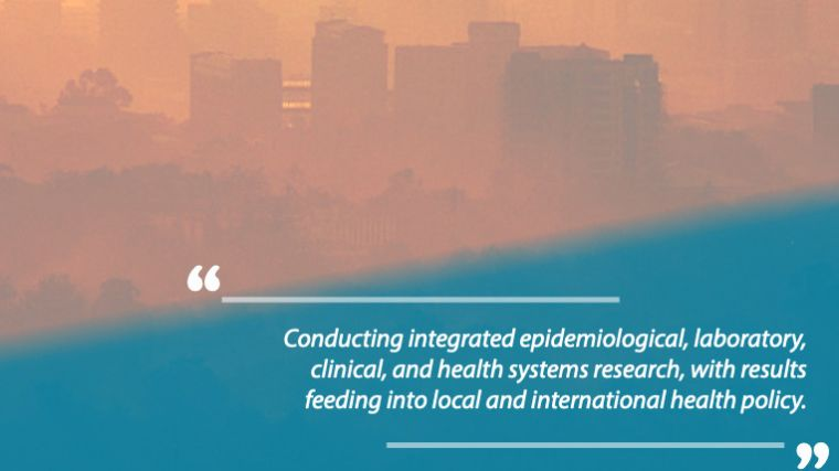 """Poster: """"Conducting integrated epidemiological, laboratory, clinical, and health systems research, with results feeding into local and international health policy"""""""