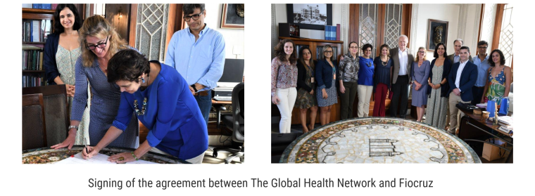 Signing of the agreement between The Global Health Network and Fiocruz