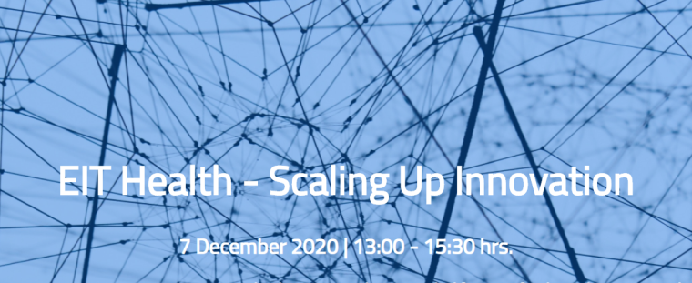 Flyer for EIT health, scale up innovation event on 7th December 2020