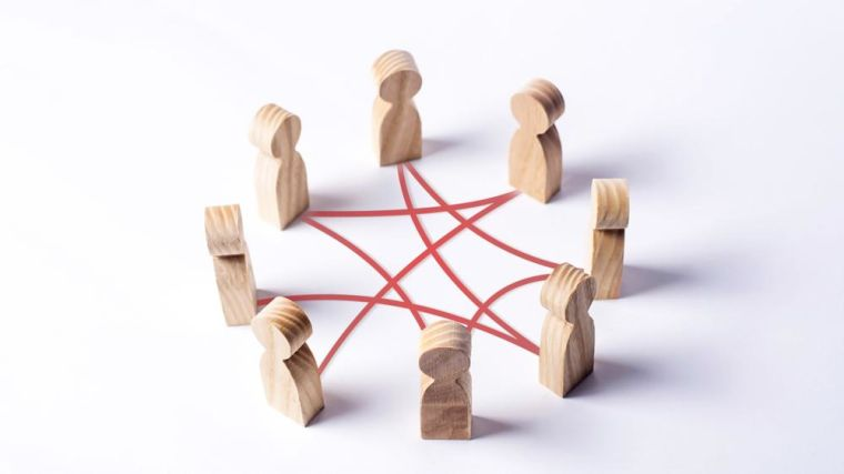 Wooden figures in a circle