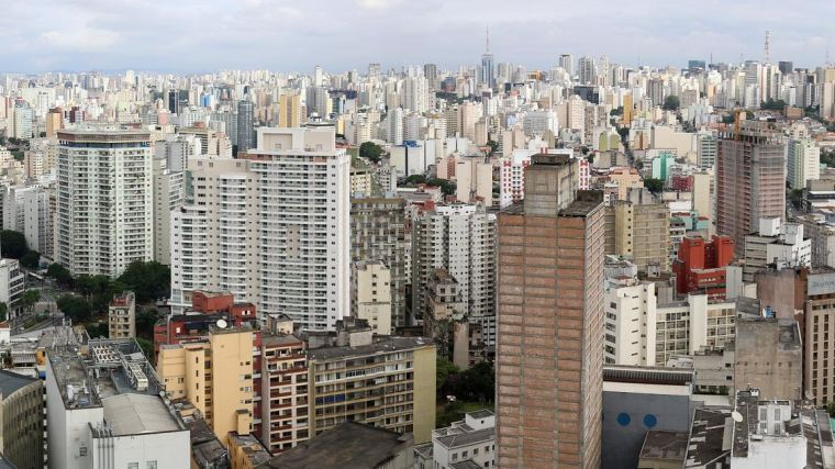 A view of high-rise buildings in Sao Paulo