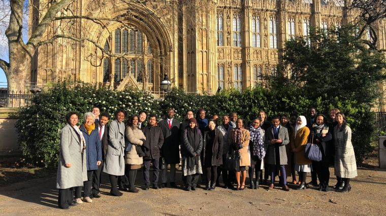 MSc IHTM team visiting the Houses of Parliament