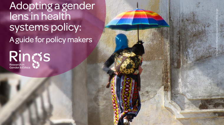 Poster: Policy Maker's guide for adopting a gender lens in health systems policy