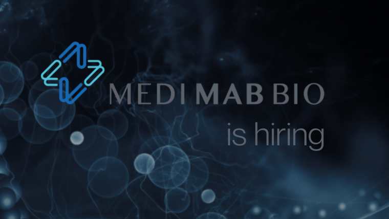 This image is advertising that Medimab Bio is hiring.