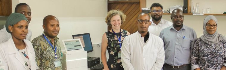 AIREAL team in Africa with Anna Schuh