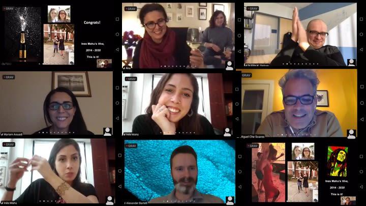 Domingos team virtual event to celebrate a DPhil student's viva