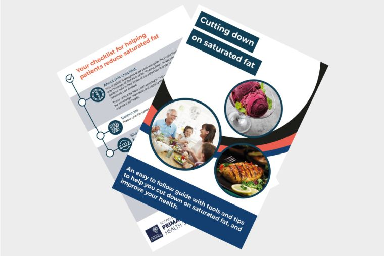 Click to visit the download page for the reducing saturated fat, and reducing salt booklets and checklists