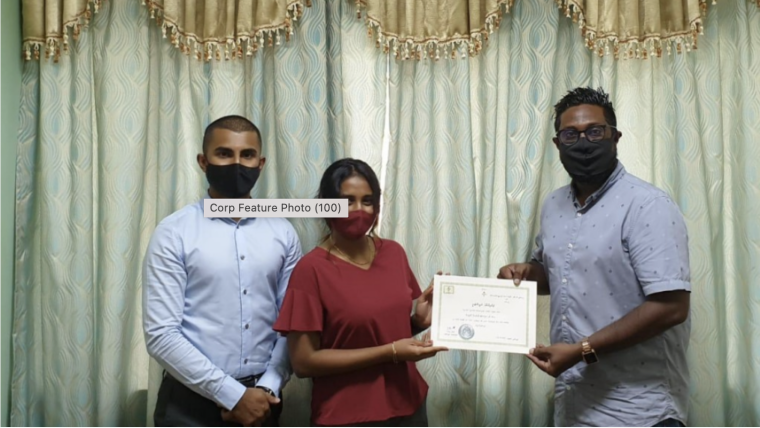 Photograph of funders of the NGO to Work Exclusively with Migrant Workers Established in Maldives