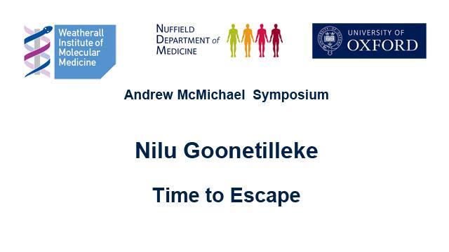 screenshot of podcast introducing Nilu Goonetilleke and seminar topic