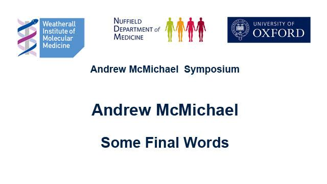 screenshot from Andrew McMichael's podcast introducing speaker and topic