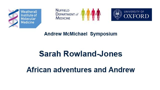 screenshot from Sarah Rowland-Jones' podcast introducing speaker and topic