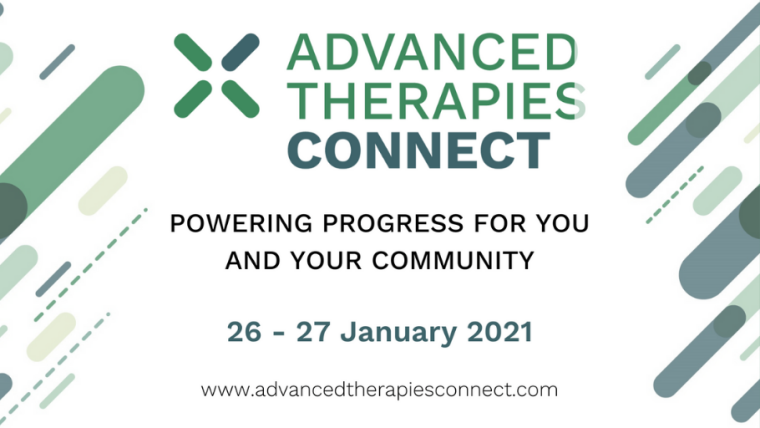 This image is advertising Advanced Therapies Connect, a unique virtual networking and learning experience as part of MEDCITYs partnership with Phacilitate. This event is taking place on Tuesday 26th of January to Wednesday 27th January 2021.