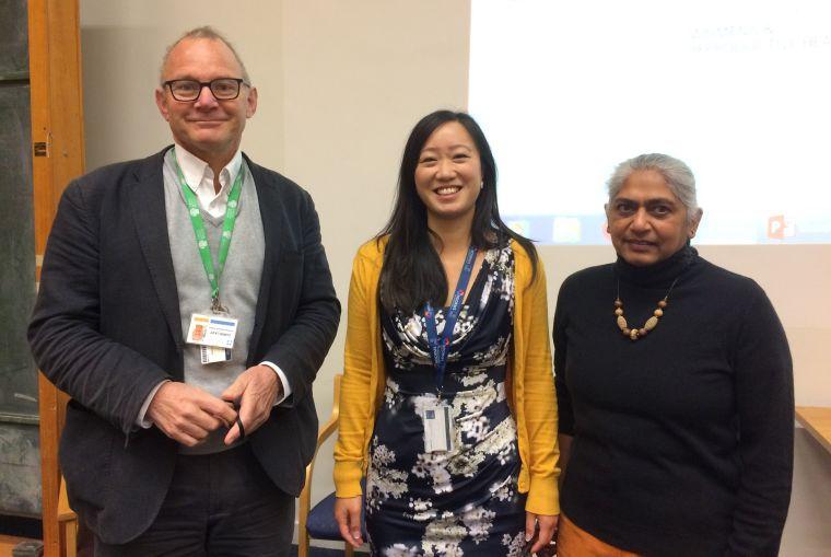 Professor Chris Lavy, Mrs Grace Drury and Professor Kokila Lakhoo