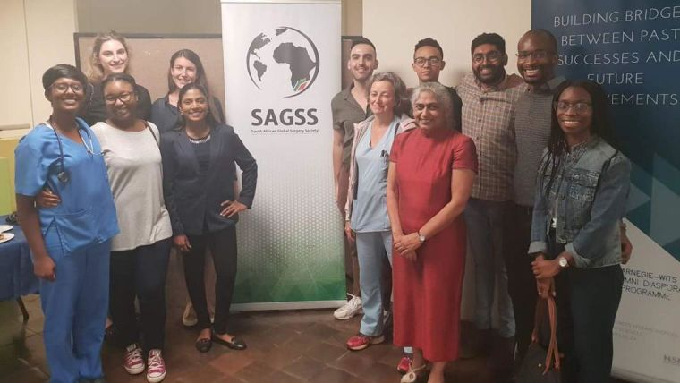 Professor Kokila Lakhoo with colleagues at the South African Global Surgery Society (SAGSS) event.