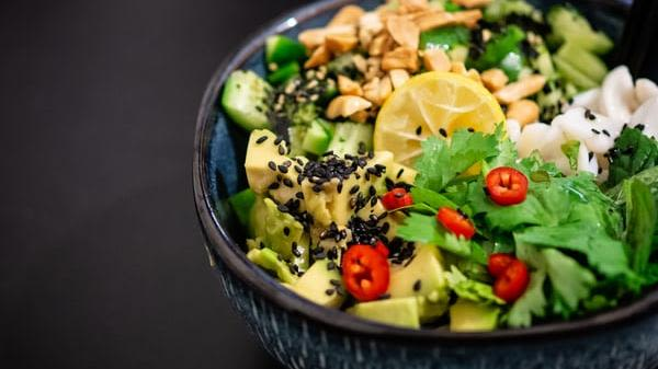A picture of a vegetable salad in a bowl