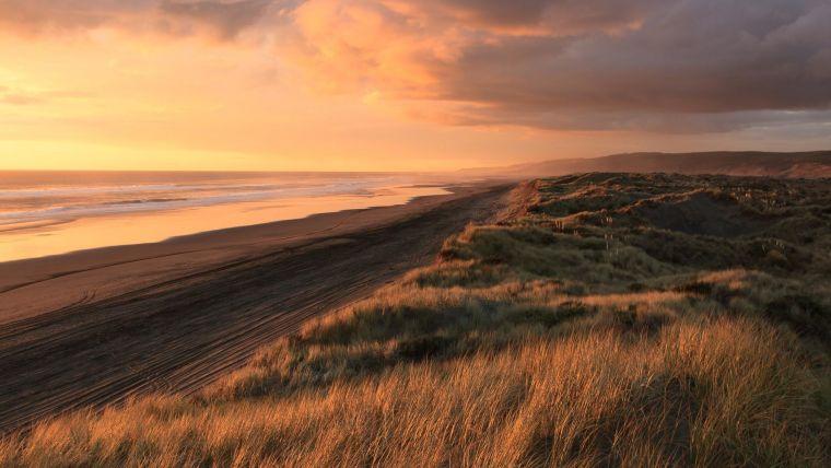 A coastal sunset