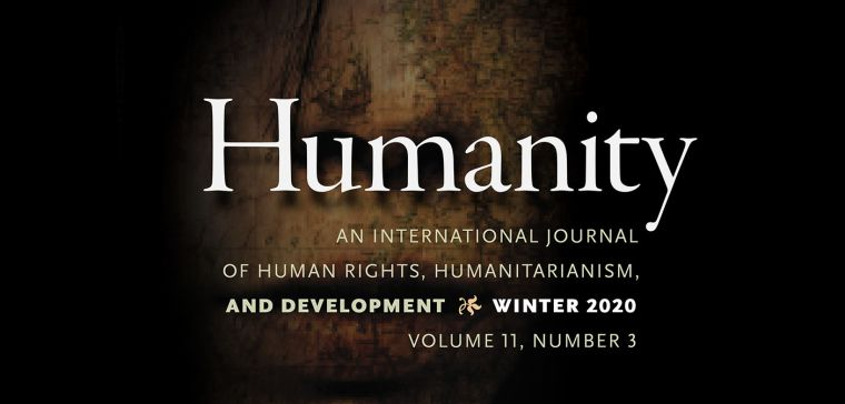 cover of Humanity journal