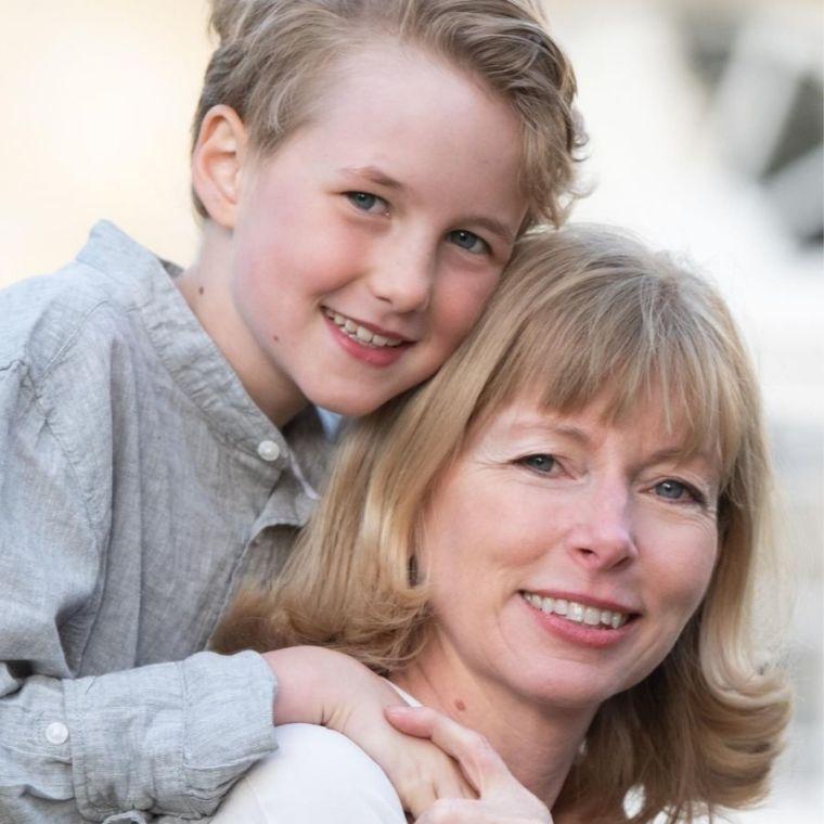 Sarah Blagden and her daughter