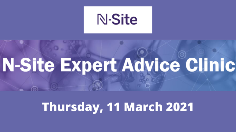 This image is advertising an N-Site Expert Clinic taking place on 11th March 2021.