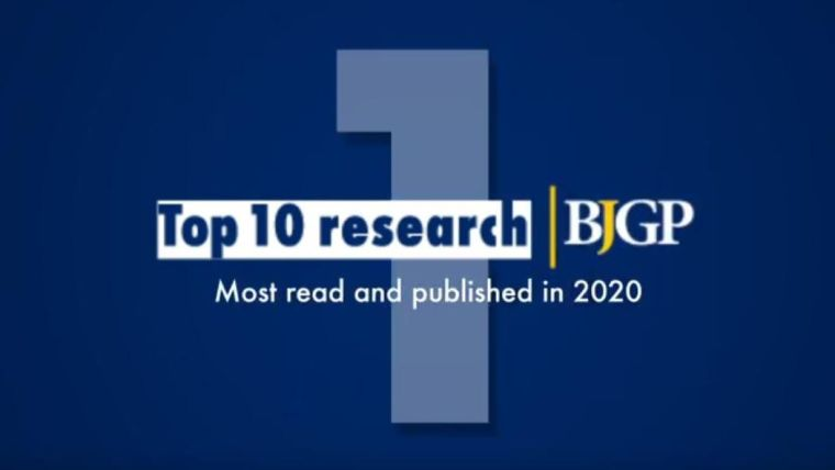 British Journal of General Practice Top 10 research; Most read and published in 2020