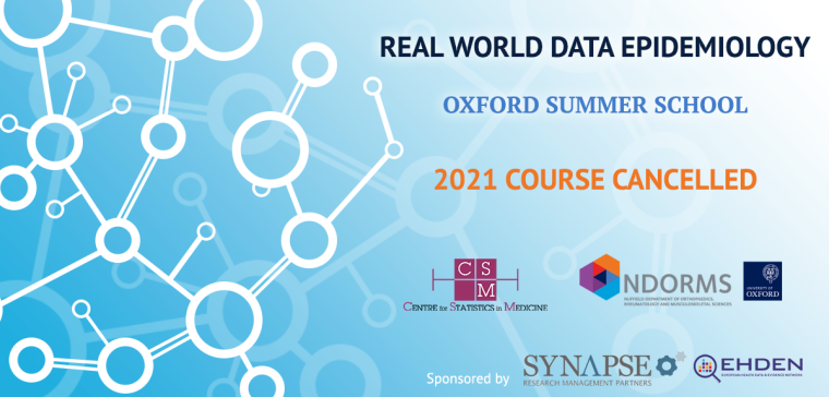 Real World Epidemiology: Oxford Summer School - cancelled banner