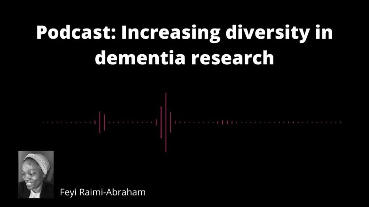 YouTube thumbnail for interview with Femi Raimi-Abraham about increasing diversity in dementia research