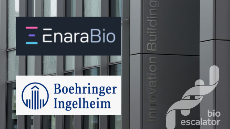 Innovation Building with BioEscalator, EnaraBio and Boehringer Ingelheim logos