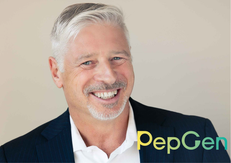Image of PepGen's new CEO James McArthur