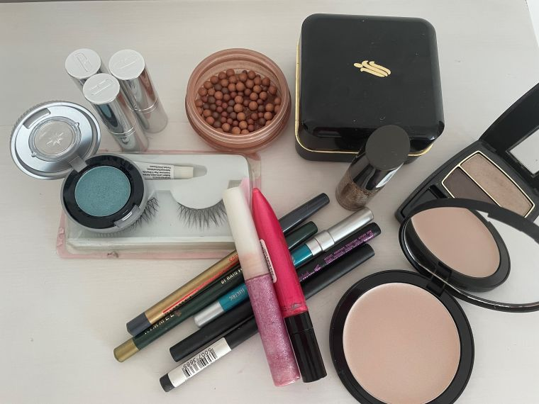 Picture of a range of different makeup items