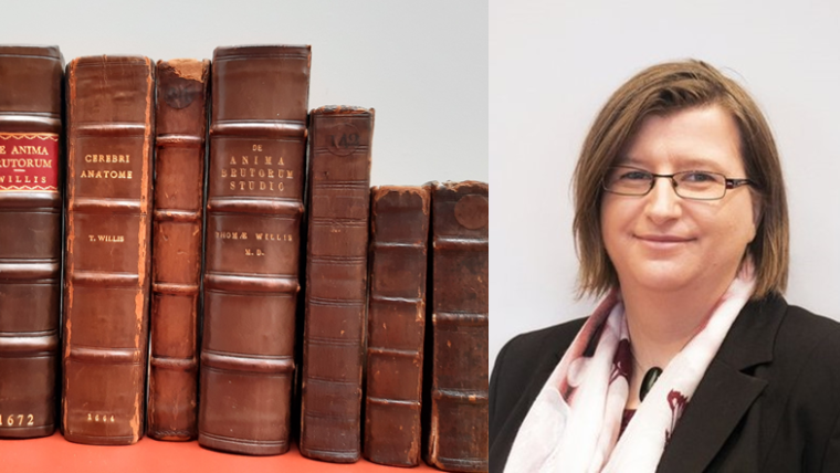 St John's College Library collected volumes of Thomas Willis's books, and Petra Hofmann formal headshot