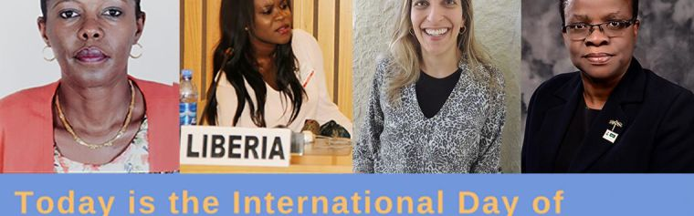 Dr Corine Karema, Gloria Mason, Dr Fabiana Barreira and Dr Chinwe Lucia Ochu, with 'Today is the International Day of Women and Girls in Science'