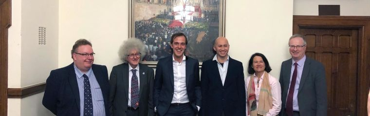 Group photo of Rob van der Pluijm and colleagues in Westminster