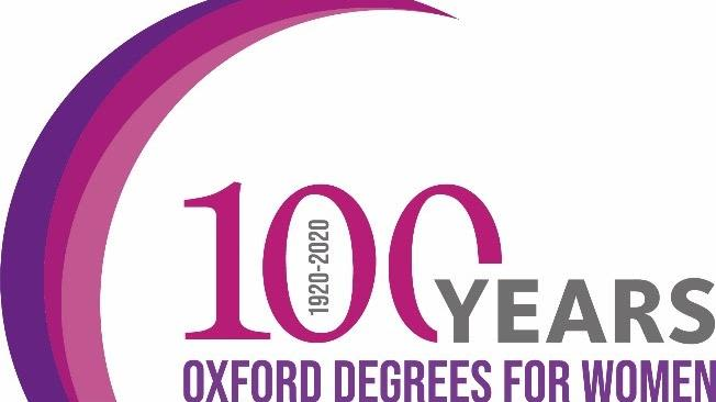 100 years Oxford degrees for women logo