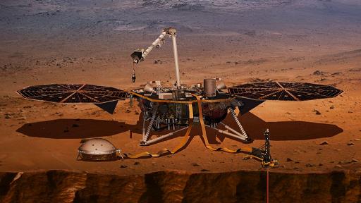 Artist's impression of the InSight Lander on Mars