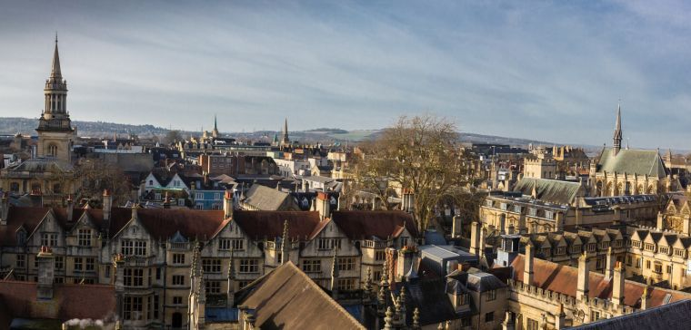 A view over central Oxford