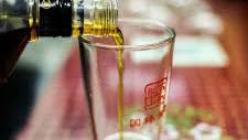 Chinese alcohol being poured into a glass
